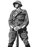 Швейцарский солдат в каске M 18